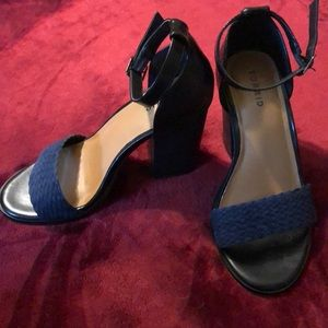 Torrid Navy and Black Block Heels